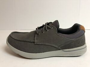 Relaxed Fit Mosen Boat Shoes Grey 65493