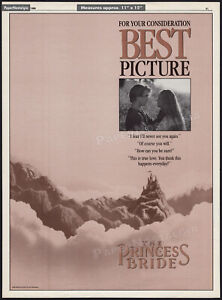 THE PRINCESS BRIDE__Original 1988 Trade AD / FYC awards promo_poster__CARY ELWES