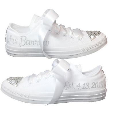 wedding converse High top wedding trainers by