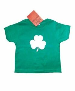 Shamrock-Infant-T-Shirt-Irish-Baby-Tee-6m-12m-18m-14m-Kelly-Green