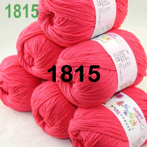 Sale New Lot 6 Skeins x 50gr Soft Cashmere Wool Silk Children Hand Knitting Yarn