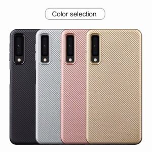 best website 758ed d2eac Details about Synthetic fiber Carbon Fiber Silicone Cover For Samsung  Galaxy A7 2018 A750 Case