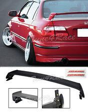 For 96-00 Honda Civic Mugen Style Trunk Wing Spoiler 4Dr Sedan w/ red emblems