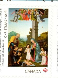 SINGLE-FROM-BKT-XMAS-ADORATION-OF-THE-SHEPHERDS-2017-DOMESTIC-RATE-90c-MNH