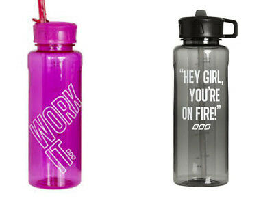 Genuine Lorna Jane Icons 1LT Straw Water Bottle Cycling Hiking Bicycle Water Cup