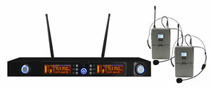 KARMA-SET-7822LAV-Doppio-Microfono-Archetto-con-Display-Digitale-UHF