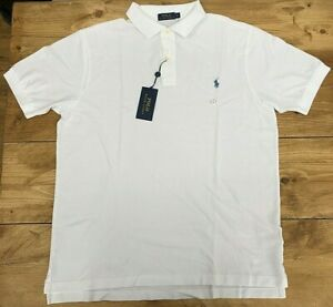 Details about Mens Ralph Lauren White Polo Shirt - UK Size Large T 42/44 Chest Long & Tall