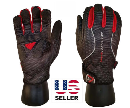 BLACK New Cycling Bicycle Full Finger Winter Wind//Waterproof Thermal Men Glove