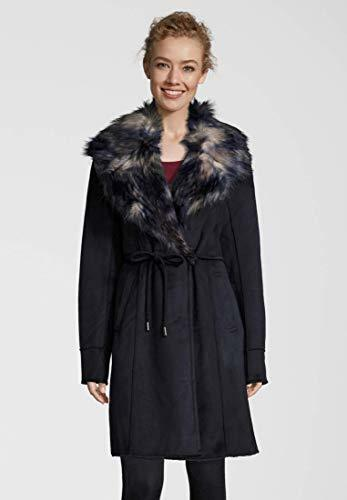 Rino & & & Pelle, weicher Mantel in Lammfell-Optik in dunkelblau, Größe 40   | Genial  | Angenehmes Gefühl  | Überlegene Qualität  | Ausgezeichnetes Handwerk  | Großartig  8bfb14