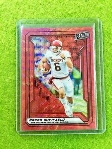 BAKER MAYFIELD RED PRIZM CARD JERSEY #6 OU # /25 SP BROWNS 2019 National VIP SSP