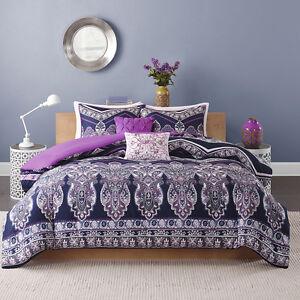 Beautiful modern chic exotic purple pink blue chevron bohemian