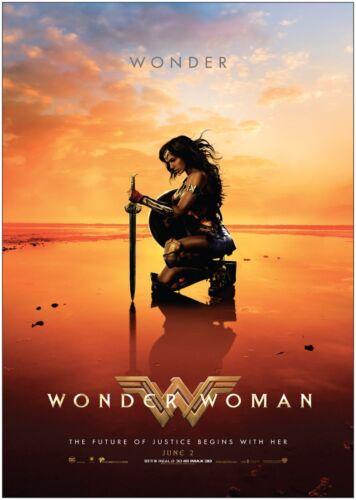 Wonder Woman Super Hero Classic Movie Poster Art Print A0 A1 A2 A3 A4 Maxi