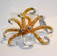 "Swarovski Crystal Elements ""Octopus"" Hanging Silver pewter"