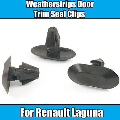 10x clips Para Renault Laguna weatherstrips Puerta Junta De Goma Sello de ajuste de plástico