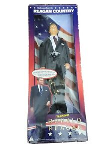 """President Ronald Reagan 12"""" Talking Doll Action Figure Toy In Box American Flag"""