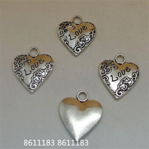 10pc Tibetan Silver Heart Love Pendant Charms Beads Jewellery Wholesale    GP115