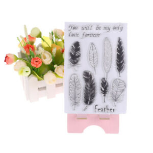 Transparent Silicone Clear Stamp Cling Seal Scrapbook Embossing Album Decor  X