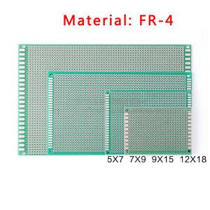 Single Sided Strip Board PCB Prototype Fiber Glass Green Circuit Boards FR-4