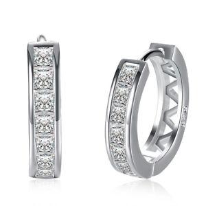 1-5-8-ct-Natural-White-Topaz-Hoop-Earrings-w-Diamonds-in-Platinum-over-Brass