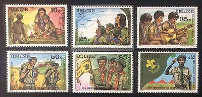 Scouts Postfrisch Mnh Lassen Sie Unsere Waren In Die Welt Gehen Motive Briefmarken Liberal Belize 1982** Pfadfinder
