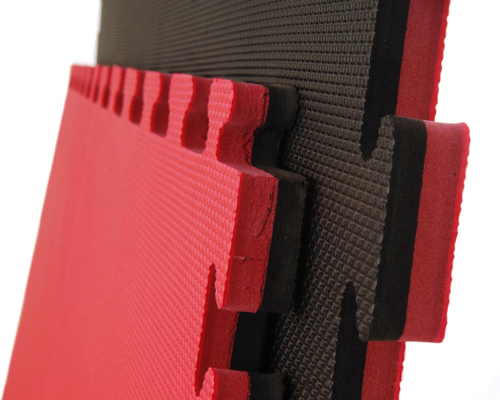 Cannons es Tatami Negro y Rojo Standard Puzzle 1m x 1m x 2cm EN71