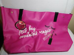New-Marvelous-makeup-large-Pink-tote-beach-bag-Handbag