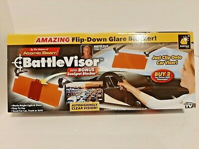 NEW Bulbhead BattleVisor Anti-Glare Battle Visor SunSpot Blocker As Seen On TV