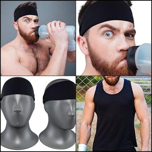 Elastic Headband Sports Men Sweatband Running Basketball Working Gym Comfortable