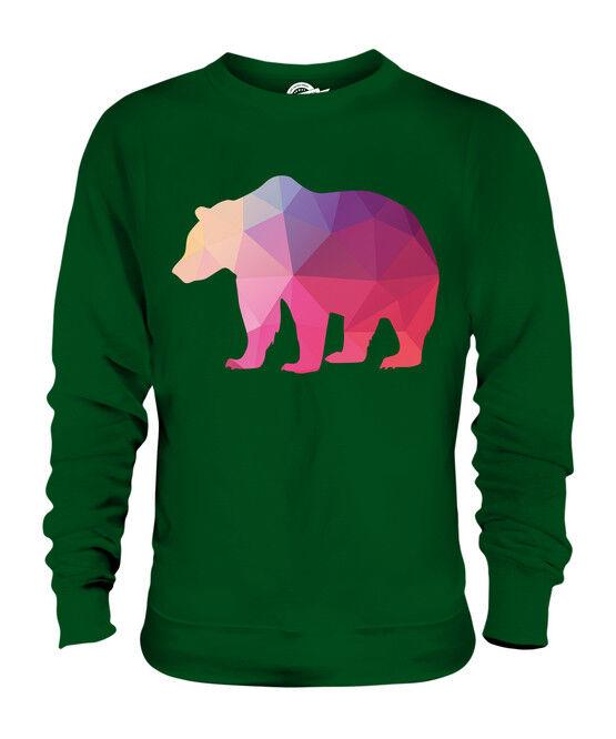 GEOMETRIC PATTERN PATTERN PATTERN BEAR UNISEX SWEATER  TOP GIFT TEXTILE ANIMAL  | Ausgewählte Materialien  | Online-verkauf  | Verschiedene Stile  831caa