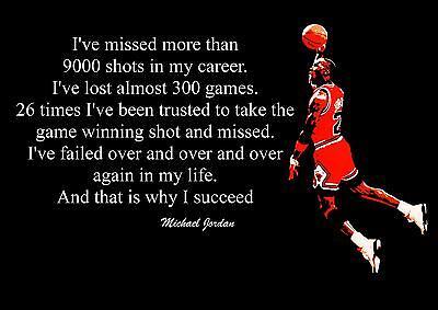Inspirierend Michael Jordan Basketball Zitat Poster Aufdruck Bild2 Ebay