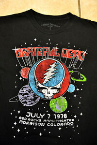 19a0b575b Grateful Dead 1978 Red Rocks Concert T Shirt Steal Your Face with ...