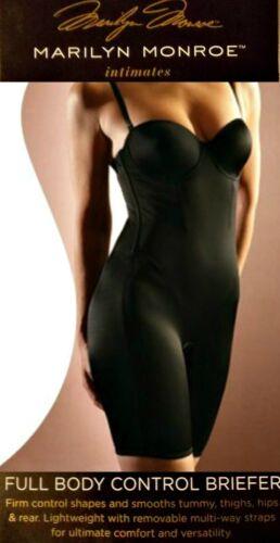 Black NWT Marilyn Monroe mid-thigh Shaper bodysuit L,1X,2X M