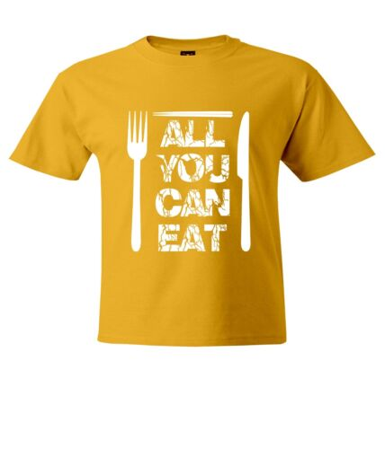 Men Women Unisex Crew Neck Short Top Tee T-Shirt All You Can It