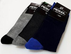 color 3 di calze Pesail colore Uk Eu di pesca pairs 12 nero cotone taglia di 9 43 46 xWCXrC
