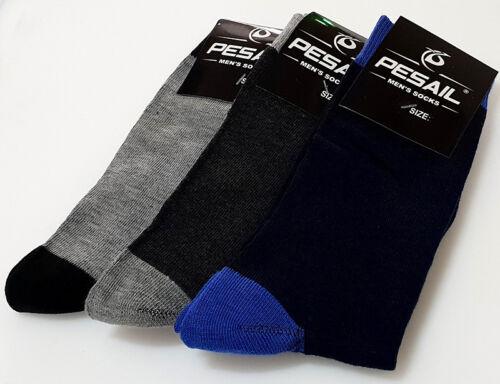 cotone di Eu nero di 3 46 di Pesail 43 9 taglia colore pairs 12 Uk calze pesca color xqIptw7v