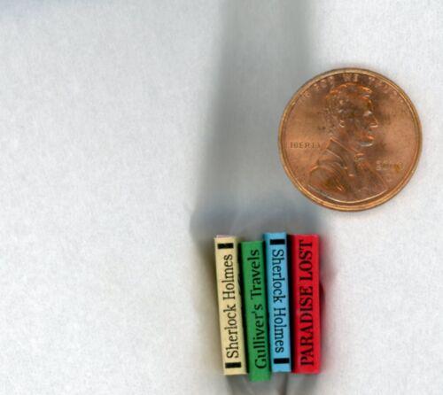 Miniature Dollhouse 12 Books 778 w// NO Printing