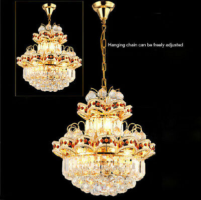 D42cm Modern K9 Clear Crystal Chandelier Lamps Restaurant Light Bedroom Lighting
