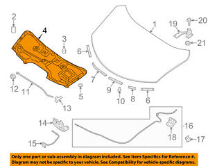 Details about NISSAN OEM 14-16 Rogue Hood-Insulation Pad Liner Heat Shield  658404BA0A