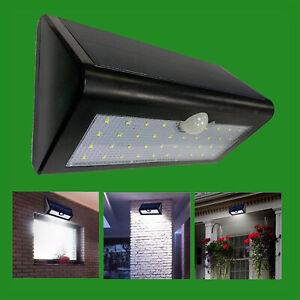 36 LED Solar PIR Motion Sensor Rechargeable Outdoor Waterproof Security Light