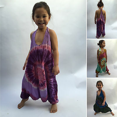 Children/'s girl/'s baby harem jumpsuit baggy summer hippy hippie boho 0-4 yrs