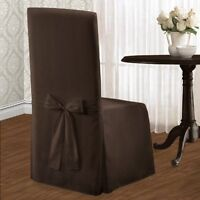United Curtain Metro Dining Room Chair Cover, 19 By 18 By 39-inch, Chocolate, Ne