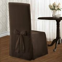 United Curtain Metro Dining Room Chair Cover, 19 By 18 By 39-inch, Chocolate, Ne on Sale
