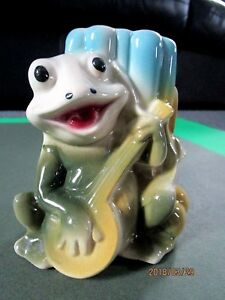 Image Is Loading Vintage Small Ceramic Frog Planter