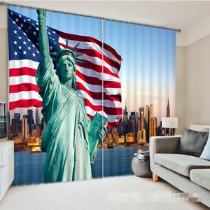 3D Nueva York 080 Cortinas de impresión de cortina de foto Blockout Tela Cortinas Ventana CA