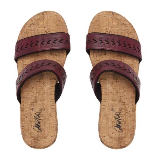 Bordeaux Red Animal Womens Saffi Wedge Sandal Size UK 8