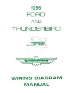 ford 1956 customline fairlaine thunderbird wiring diagram manual rh ebay com 1969 Ford Fairlane Wiring-Diagram 1969 Ford Fairlane Wiring-Diagram