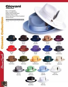 8a13fbe3f045d MEN S BRUNO CAPELO HATS GIOVANI COLLECTION UNTOUCHABLE 100% WOOL 21 ...
