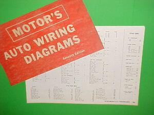 1963 1964 1965 1966 1967 Oldsmobile Olds 98 Delta 88 Toronado Wiring Diagrams Ebay