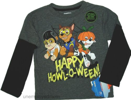 Halloween Paw Patrol Tee Top Girls Boys add to Outfit costume Party LS T Shirt