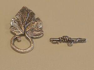 Tibetan Silver Toggle Leaf Clasp T-Bar 37.5x22mm Jewelry Making